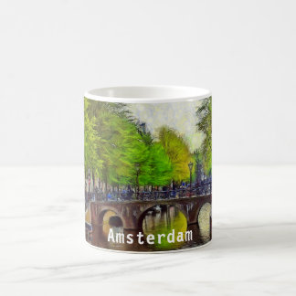 Bridge on a canal in the area of the Oude Kerk Coffee Mug
