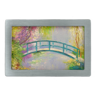 Bridge on the pond rectangular belt buckles