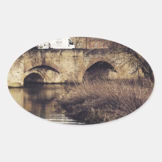 bridge oval sticker