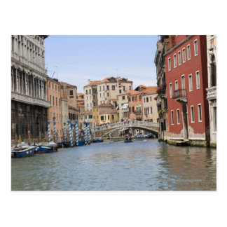 Bridge over a canal, Grand Canal, Venice, Italy Postcard