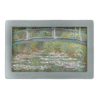 Bridge over a Pond of Water Lilies Belt Buckle