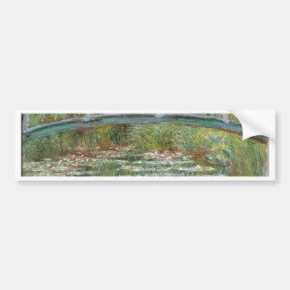 Bridge over a Pond of Water Lilies Bumper Sticker