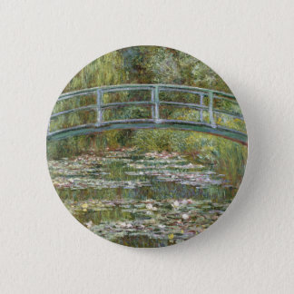 Bridge over a Pond of Water Lilies by Claude Monet 2 Inch Round Button