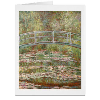 Bridge over a Pond of Water Lilies by Monet Card