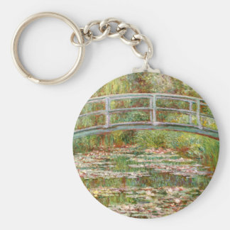 Bridge over a Pond of Water Lilies, Claude Monet Keychain