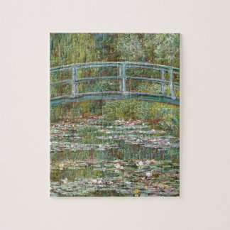 Bridge over a Pond of Water Lilies Jigsaw Puzzle
