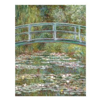 Bridge over a Pond of Water Lilies Letterhead