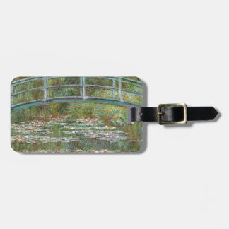Bridge over a Pond of Water Lilies Luggage Tag