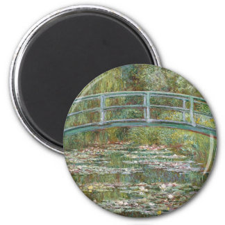 Bridge over a Pond of Water Lilies Magnet