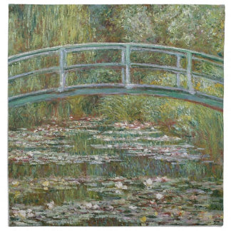Bridge over a Pond of Water Lilies Napkin