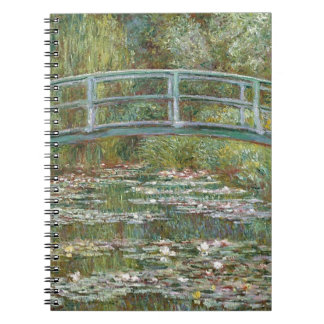 Bridge over a Pond of Water Lilies Notebook