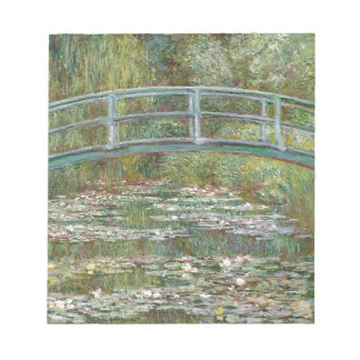 Bridge over a Pond of Water Lilies Notepad