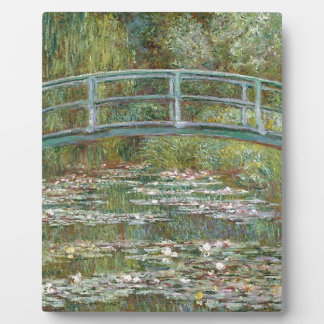Bridge over a Pond of Water Lilies Plaque