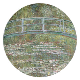 Bridge over a Pond of Water Lilies Plate