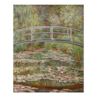 Bridge Over a Pond of Water Lilies Poster
