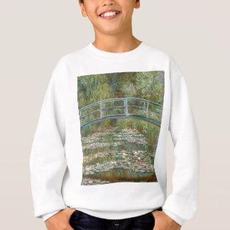 Bridge over a Pond of Water Lilies Sweatshirt