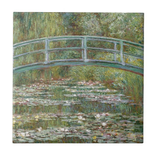 Bridge over a Pond of Water Lilies Tile