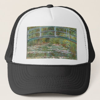 Bridge over a Pond of Water Lilies Trucker Hat