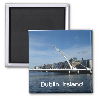 Bridge Over Dublin Ireland River Magnet