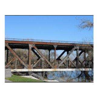 Bridge over lots of water postcard