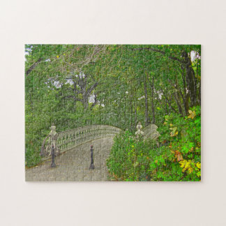 Bridge over Peaceful Waters in Central Park. Jigsaw Puzzle