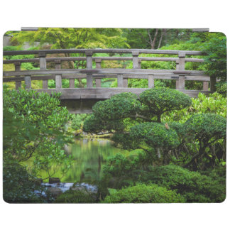 Bridge Over Pond In The Japanese Garden iPad Cover