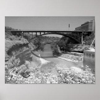Bridge Over River Gorge  Photograph Poster