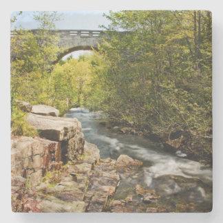 Bridge Over River Stone Coaster