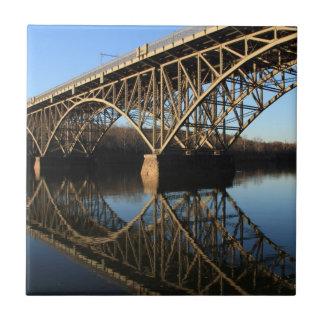 Bridge Over Schuylkill River Ceramic Tile