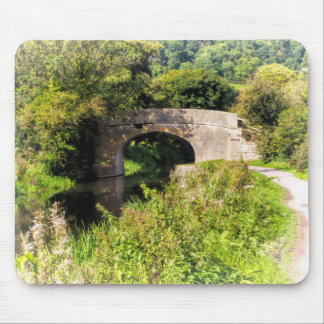 Bridge over still waters mouse pad