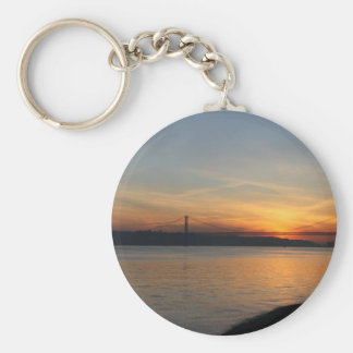 Bridge over the River Tagus at Sunset Keychain