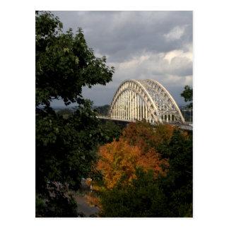 Bridge over the river Waal, Nijmegen Postcard