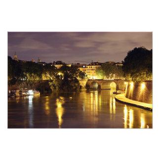Bridge Over The Tiber River Photo Print