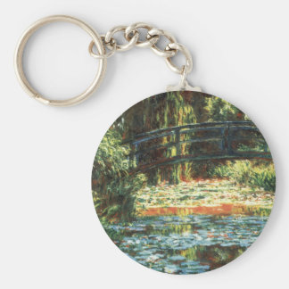 Bridge Over the Waterlily Pond by Claude Monet Keychain