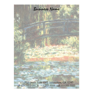 Bridge Over the Waterlily Pond by Claude Monet Letterhead