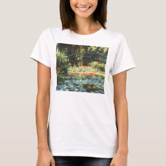 Bridge Over the Waterlily Pond by Claude Monet T-Shirt
