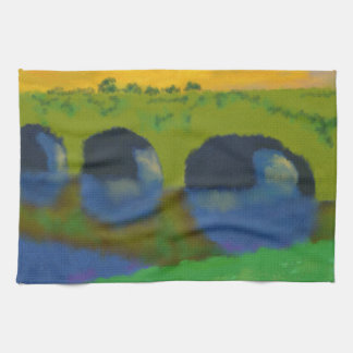 Bridge Over Water Art Kitchen Towel