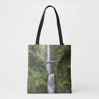 Bridge over Waterfall Landscape Tote Bag
