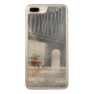 Bridge painting,Raining on the bridge Carved iPhone 7 Plus Case