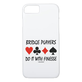 Bridge Players Do It With Finesse Four Card Suits iPhone 8/7 Case
