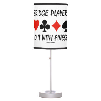Bridge Players Do It With Finesse Four Card Suits Table Lamp