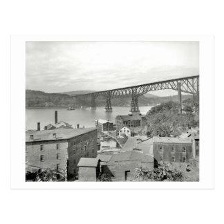 Bridge, Poughkeepsie, New York 1908 Vintage Postcard