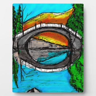 Bridge Reflection Marker #2 Colored Plaque