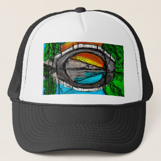 Bridge Reflection Marker #2 Colored Trucker Hat
