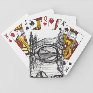Bridge Reflection Sharpie Art Card game