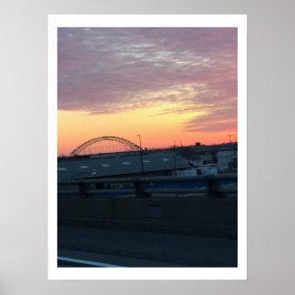 Bridge Sunrise Poster