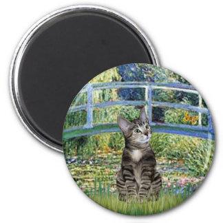 Bridge - Tabby Tiger Cat 31 2 Inch Round Magnet