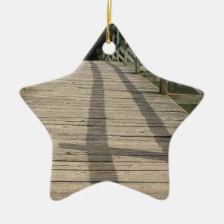 bridge taize lake ceramic ornament