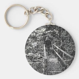 Bridge Through The Forest Keychain