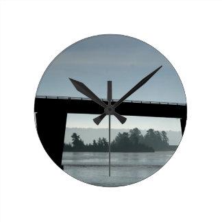 Bridge to St Joseph Island Round Clock